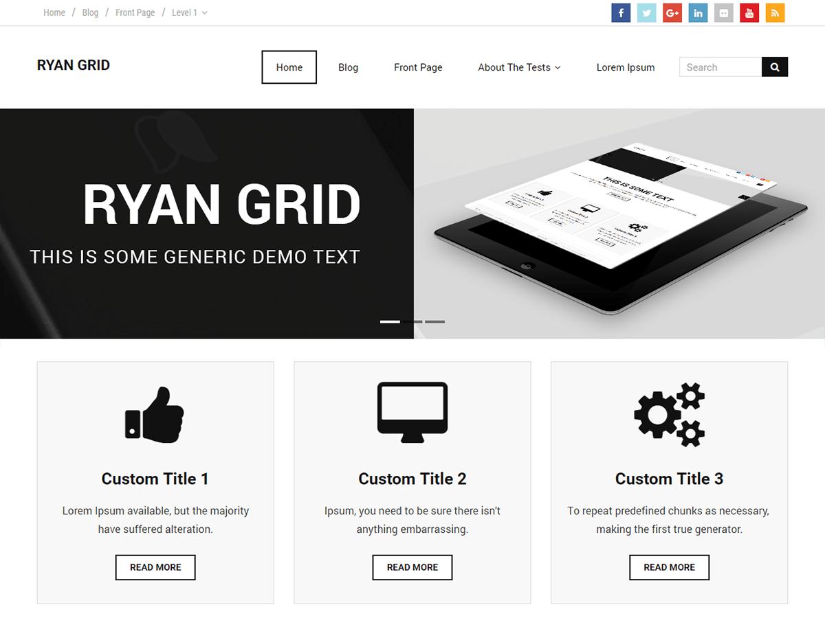 Download Ryan Grid 1.0.1 – Free WordPress Theme