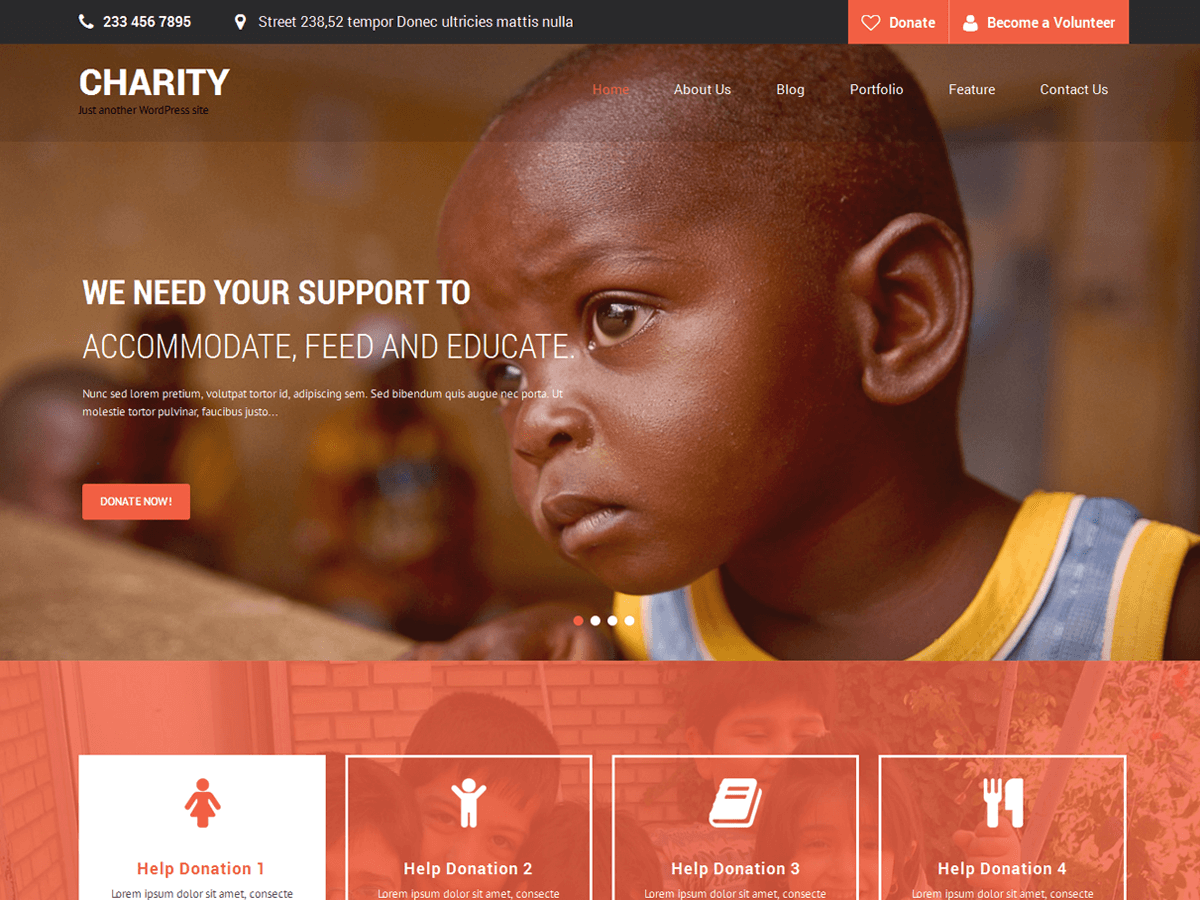 Download SKT Charity 1.8 – Free WordPress Theme