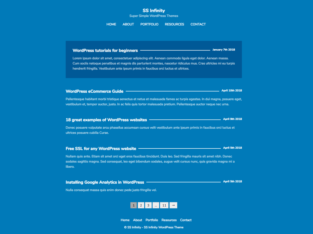Download SS Infinity 1.0.1 – Free WordPress Theme