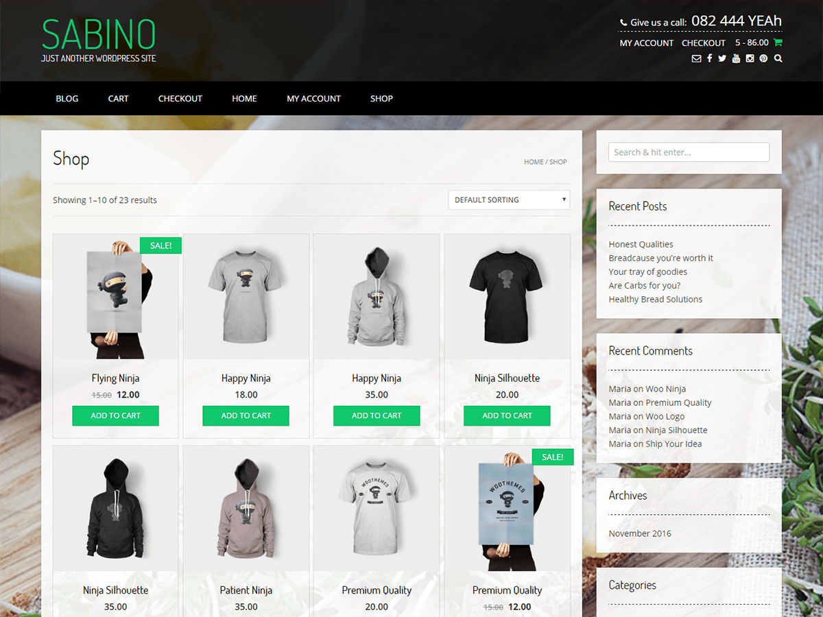 Download Sabino 1.1.13 – Free WordPress Theme