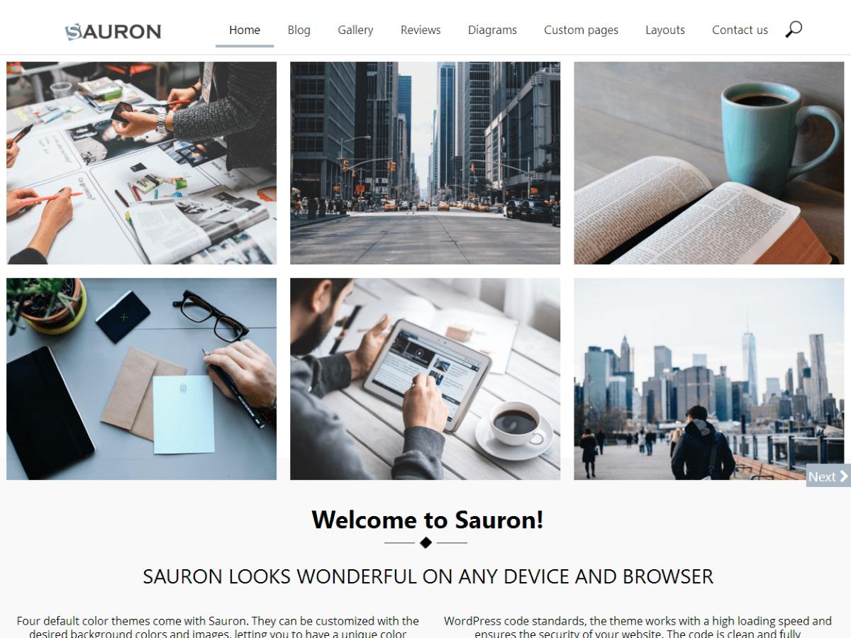 Download Sauron 1.1.27 – Free WordPress Theme