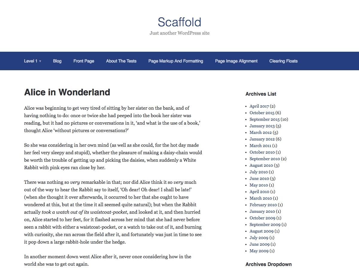 Download Scaffold 1.2.2 – Free WordPress Theme