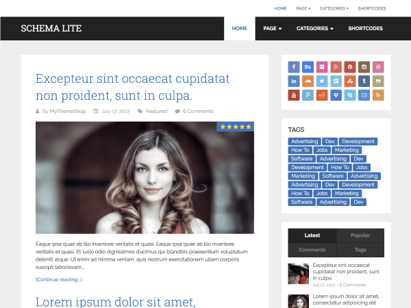 Download Schema Lite 1.0.7 – Free WordPress Theme