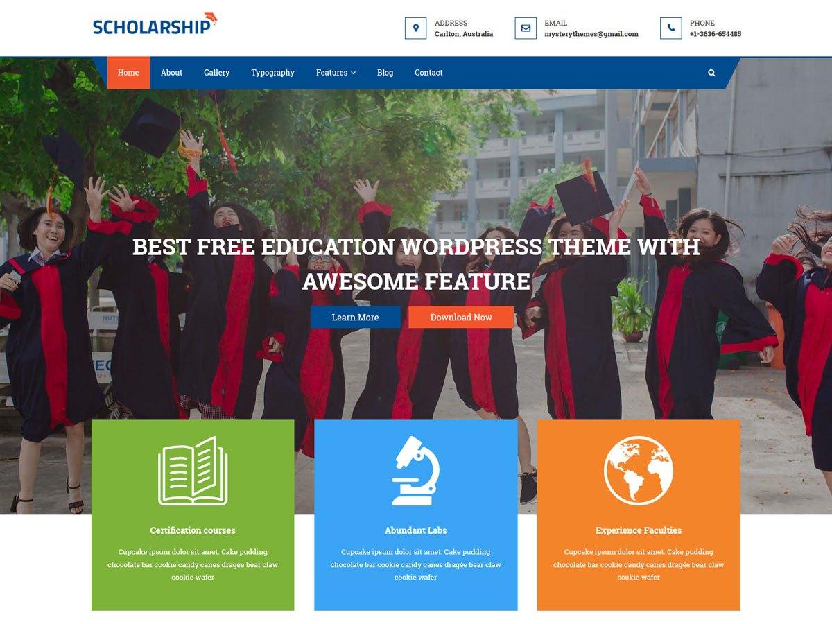 Download Scholarship 1.0.9 – Free WordPress Theme