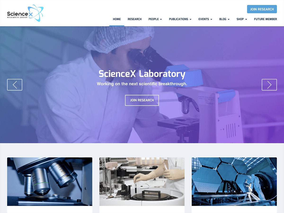 Download Sciencex Lite 1.0.6 – Free WordPress Theme