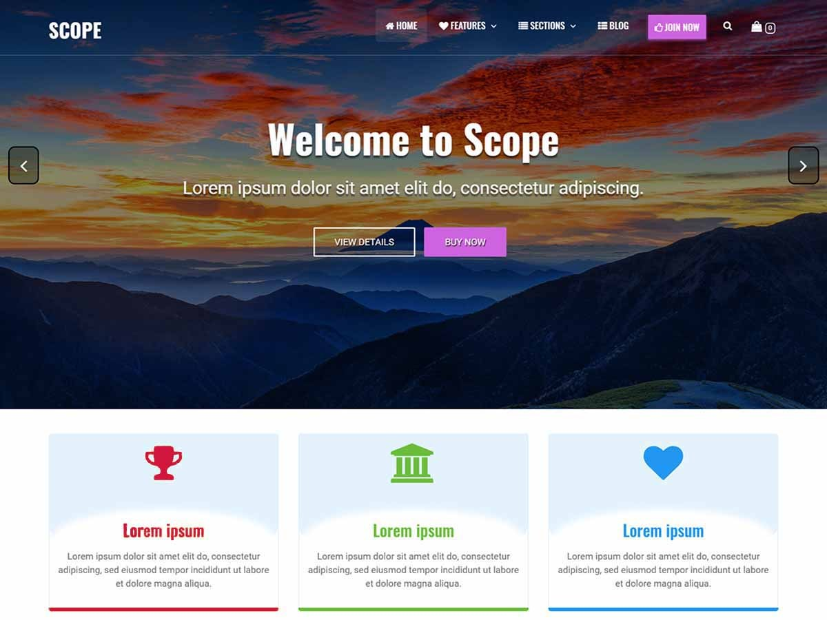 Download Scope 1.1.4 – Free WordPress Theme