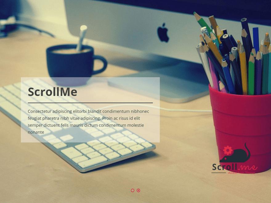 Download ScrollMe 2.0.3 – Free WordPress Theme