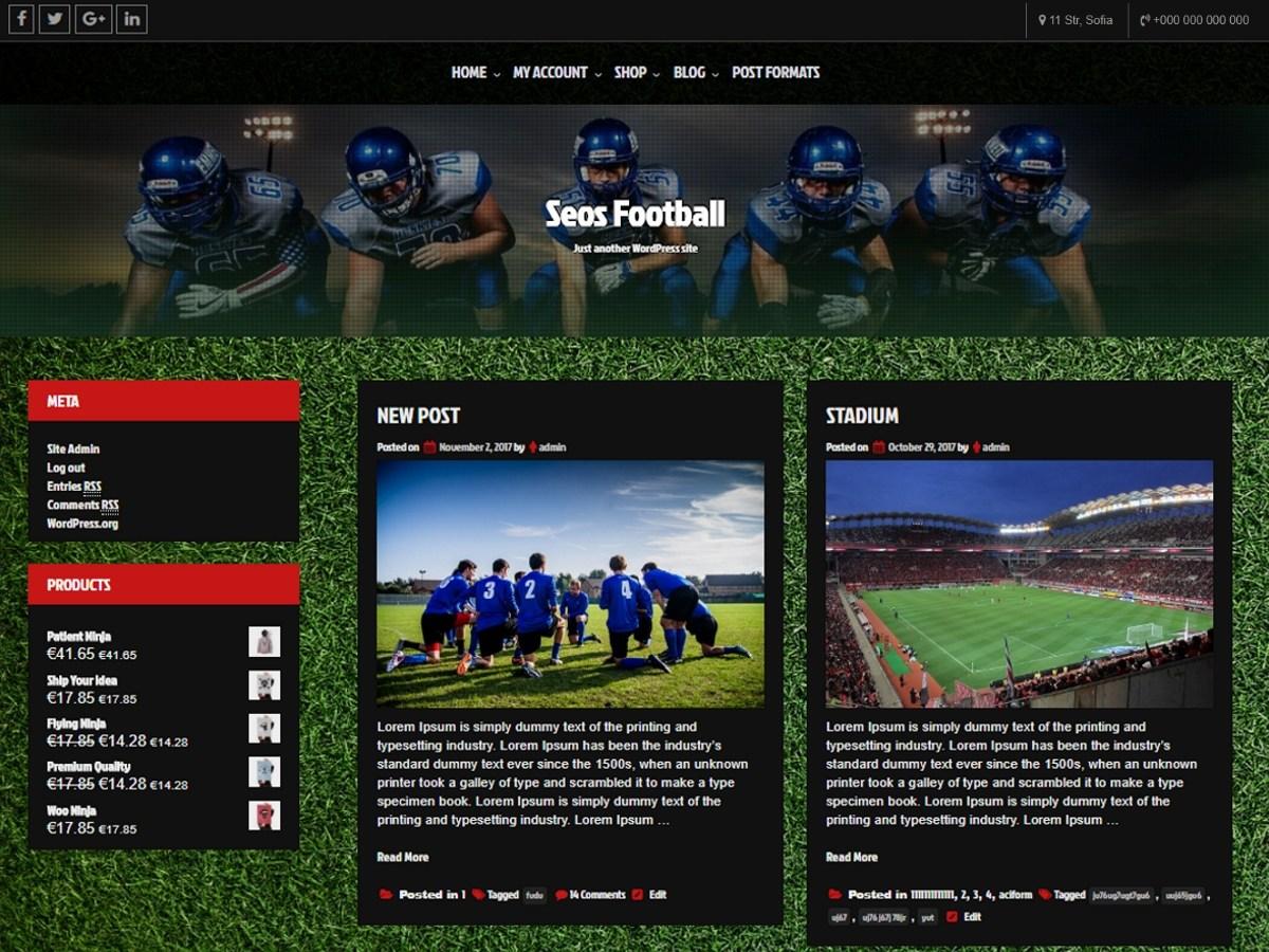 Download Seos Football 1.1.6 – Free WordPress Theme