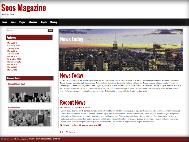 Download Seos Magazine 1.2.2 – Free WordPress Theme