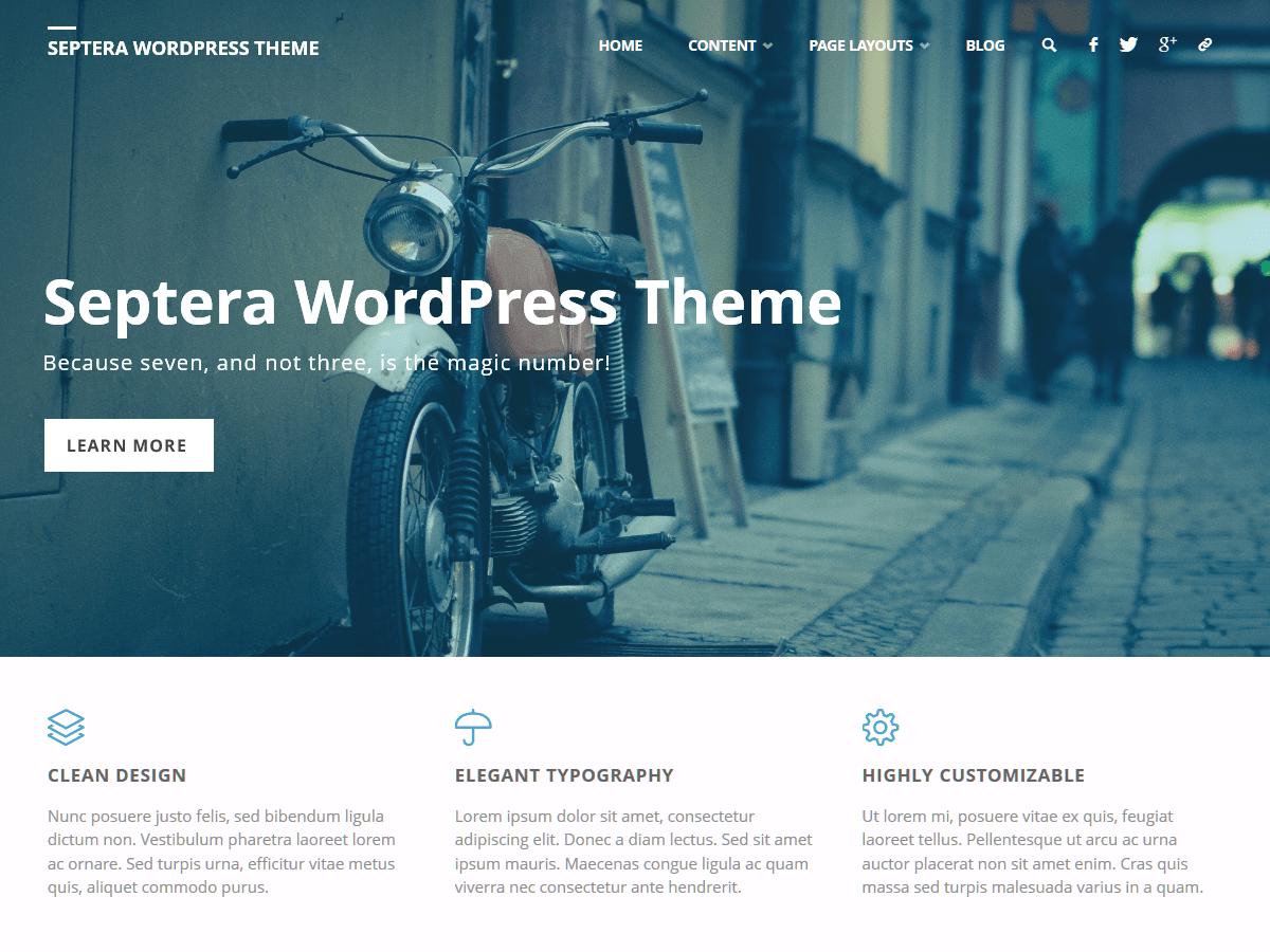 Download Septera 1.3.2 – Free WordPress Theme