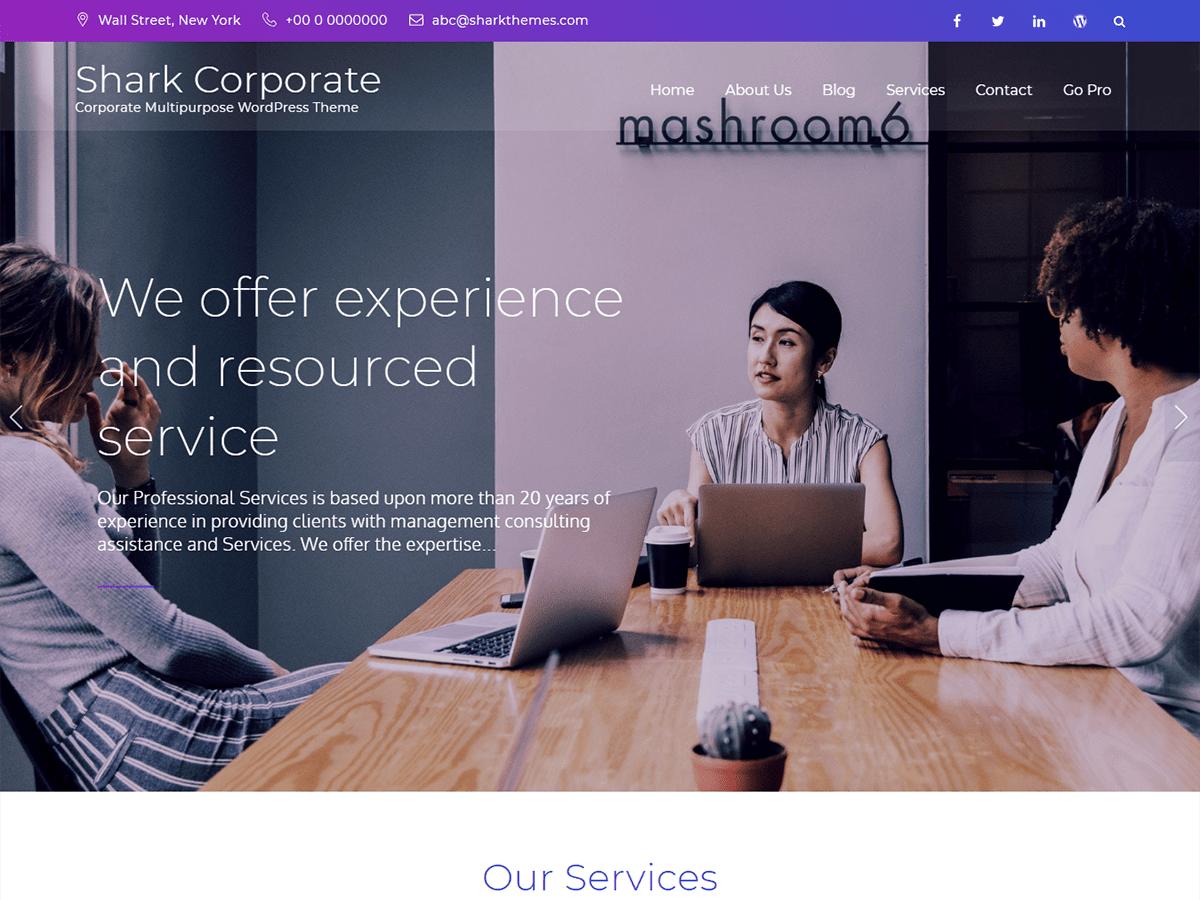 Download Shark Corporate 1.0.1 – Free WordPress Theme