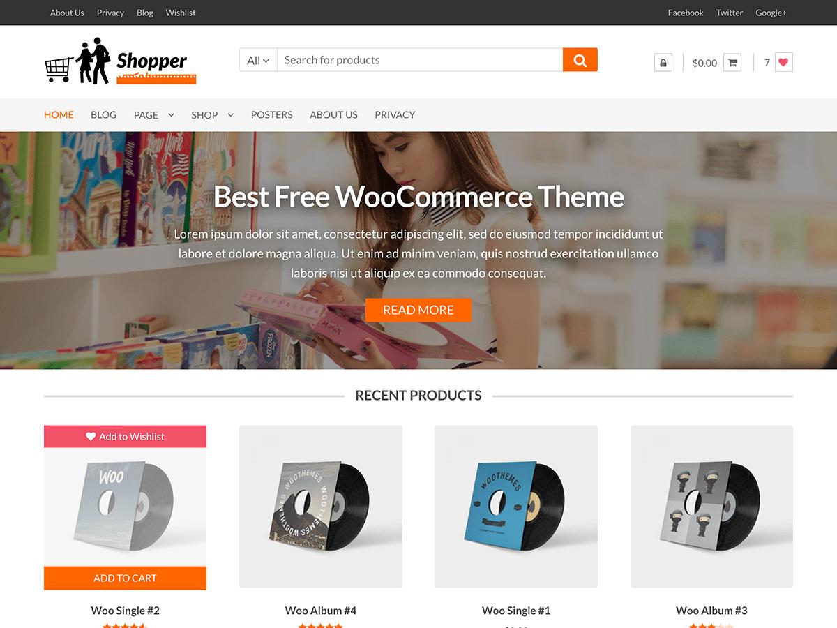 Download Shopper 1.3.4 – Free WordPress Theme