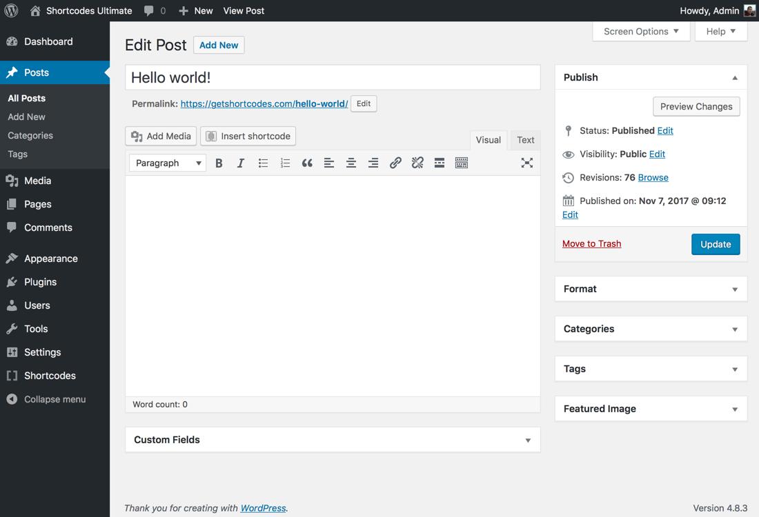 Download Shortcodes Ultimate 5.0.7 – Free WordPress Plugin