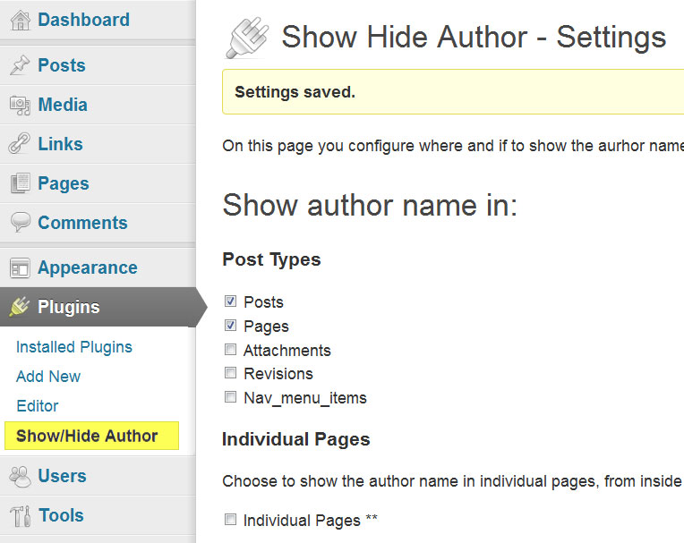 Download Show Hide Author 2.3 – Free WordPress Plugin