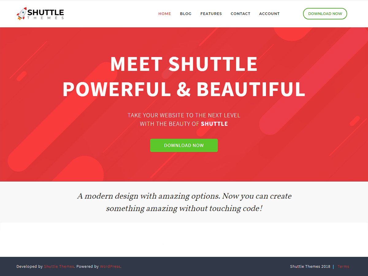 Download Shuttle Red 1.0.1 – Free WordPress Theme