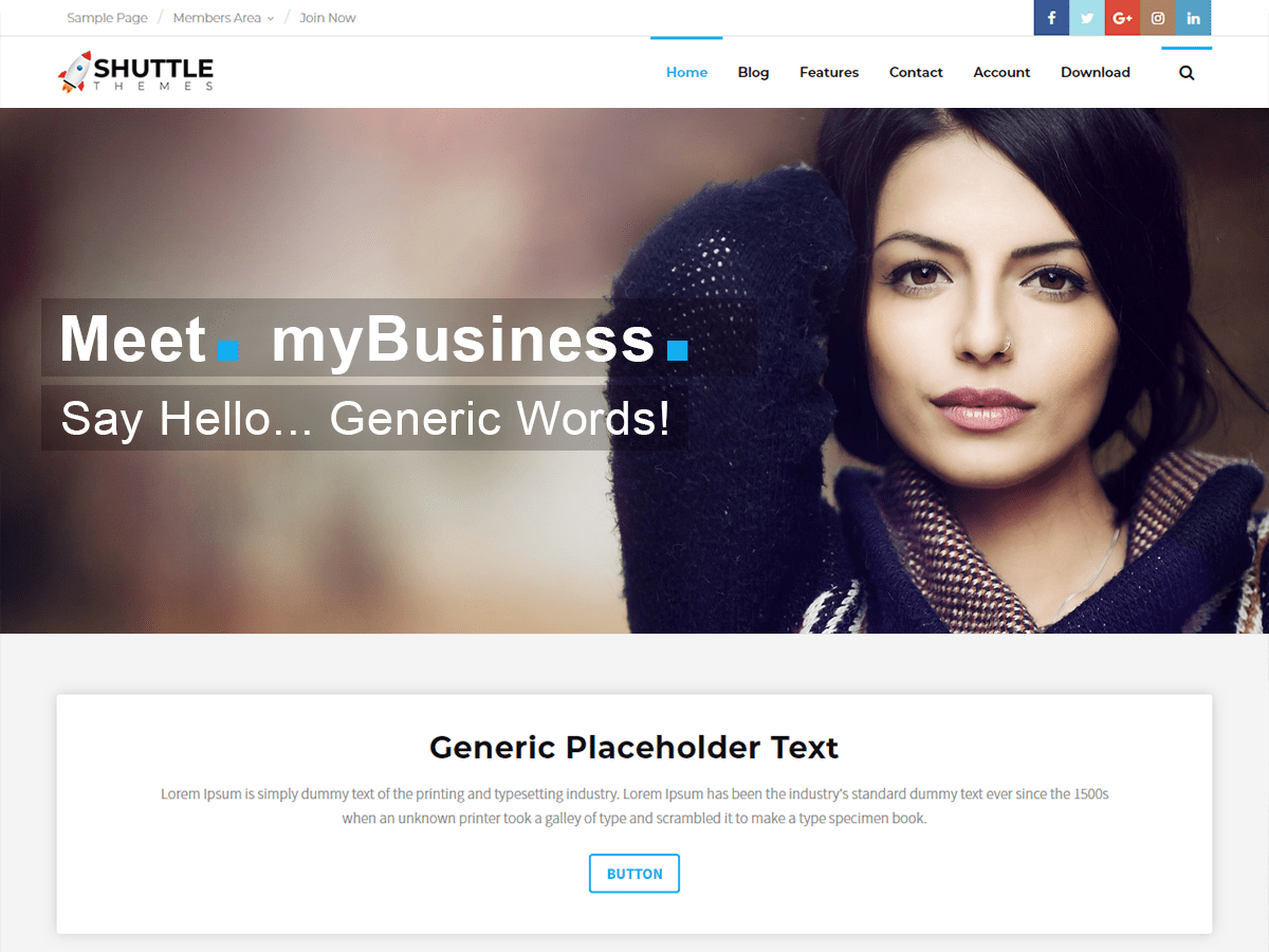 Download Shuttle myBusiness 1.0.0 – Free WordPress Theme