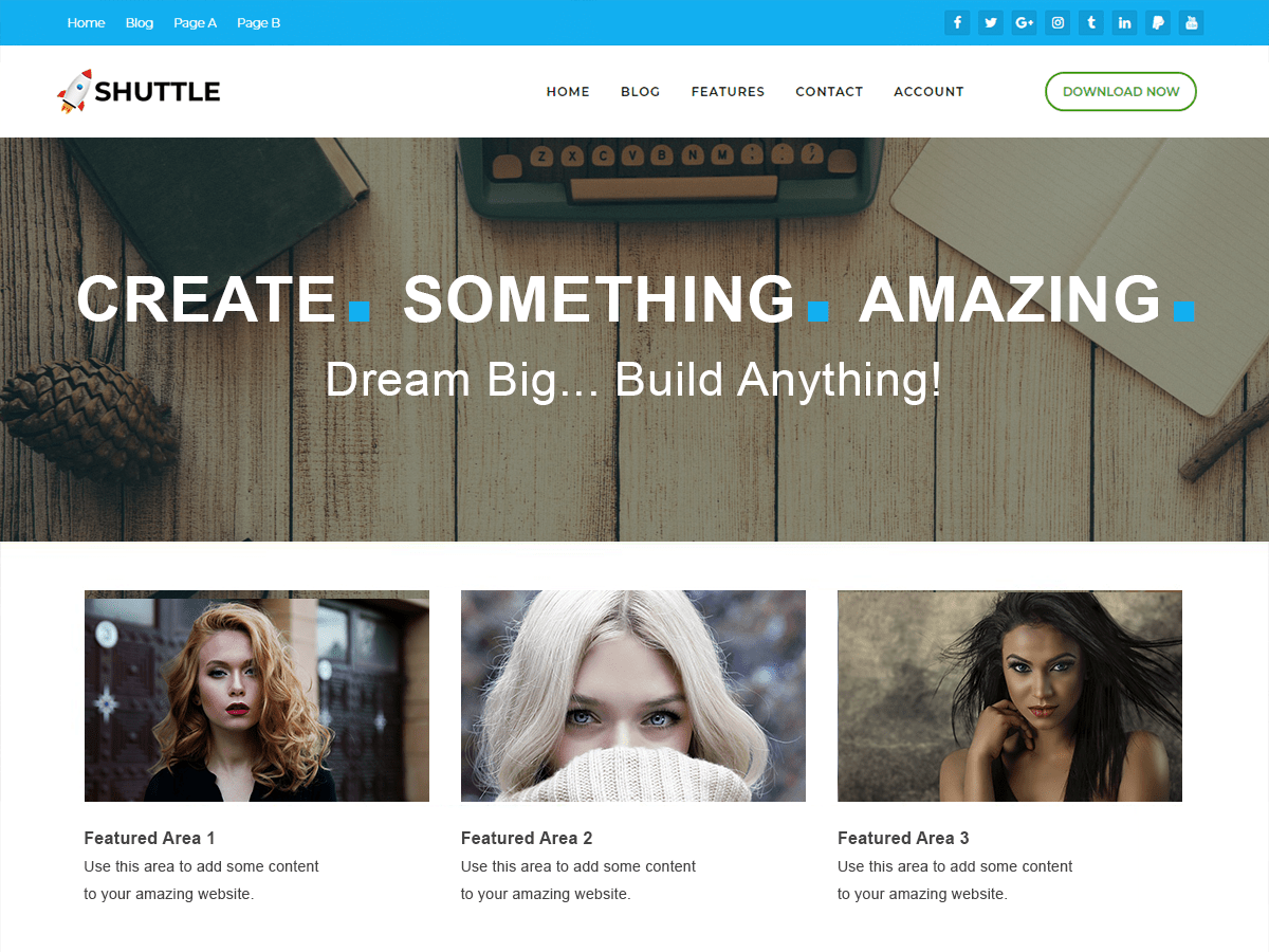 Download Shuttle pureBusiness 1.0.0 – Free WordPress Theme