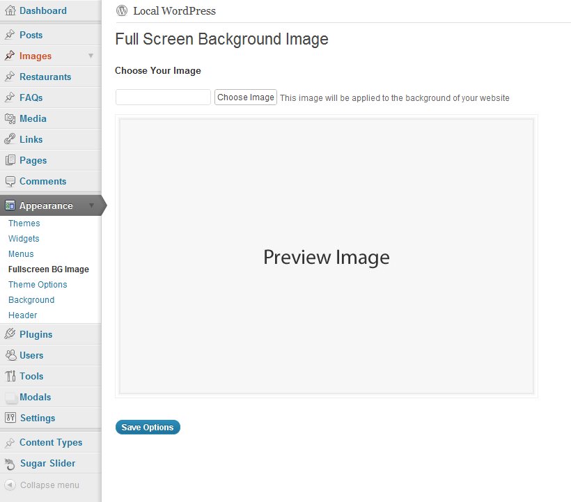 Download Simple Full Screen Background Image 1.2.4 – Free WordPress Plugin