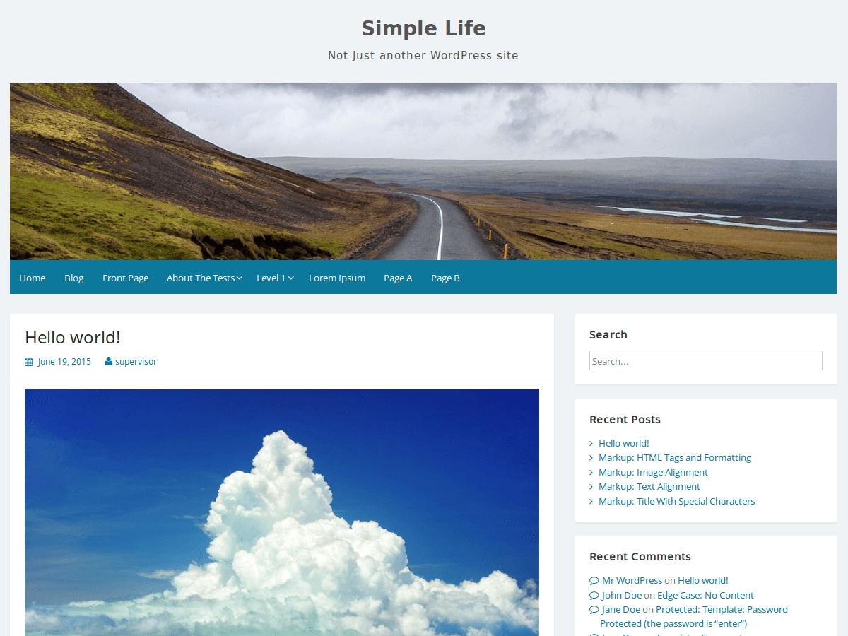 Download Simple Life 2.3 – Free WordPress Theme