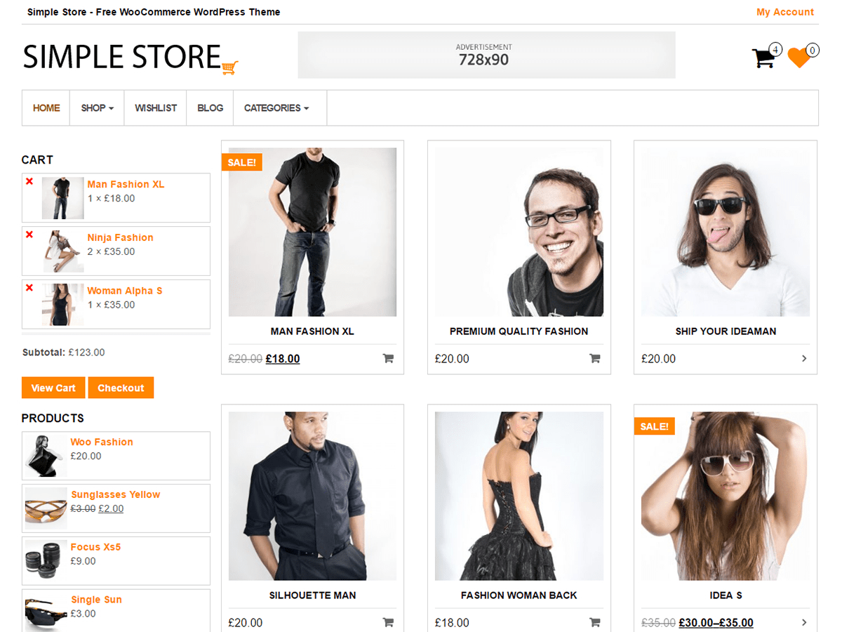 Download Simple Store 1.0.3 – Free WordPress Theme