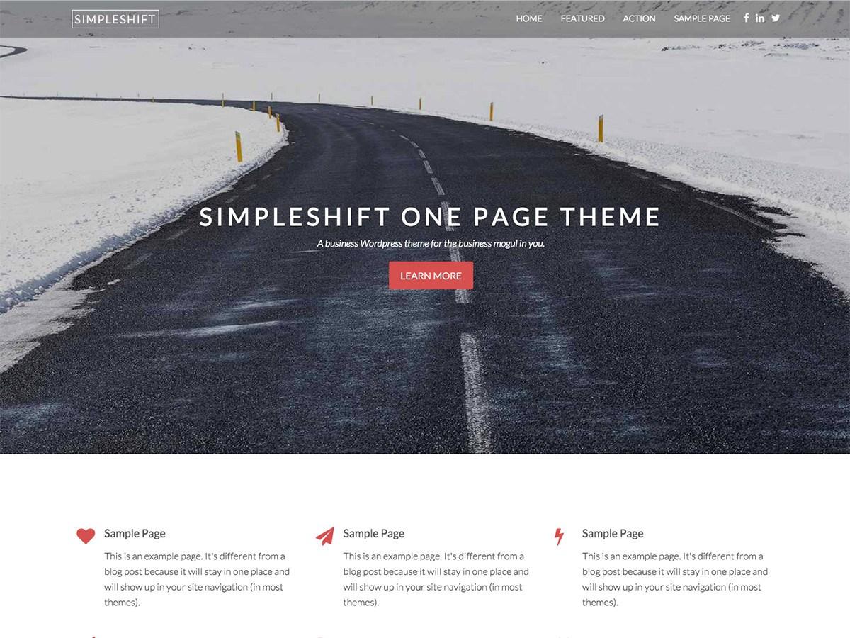 Download SimpleShift 1.0.9 – Free WordPress Theme