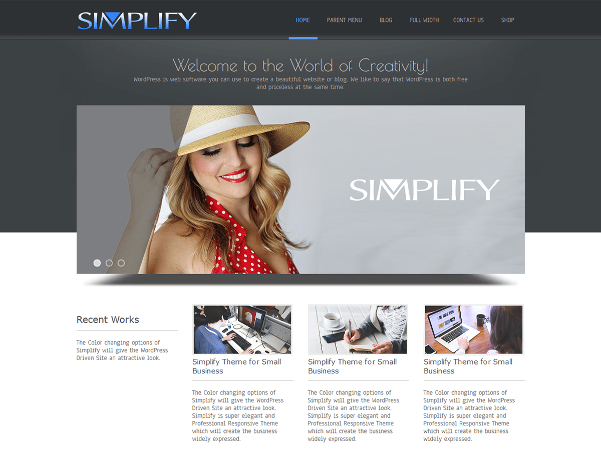 Download Simplify 4.7 – Free WordPress Theme