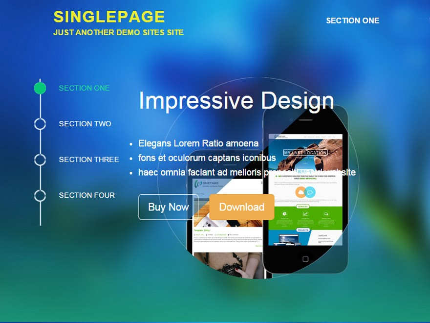 Download SinglePage 1.5.2 – Free WordPress Theme
