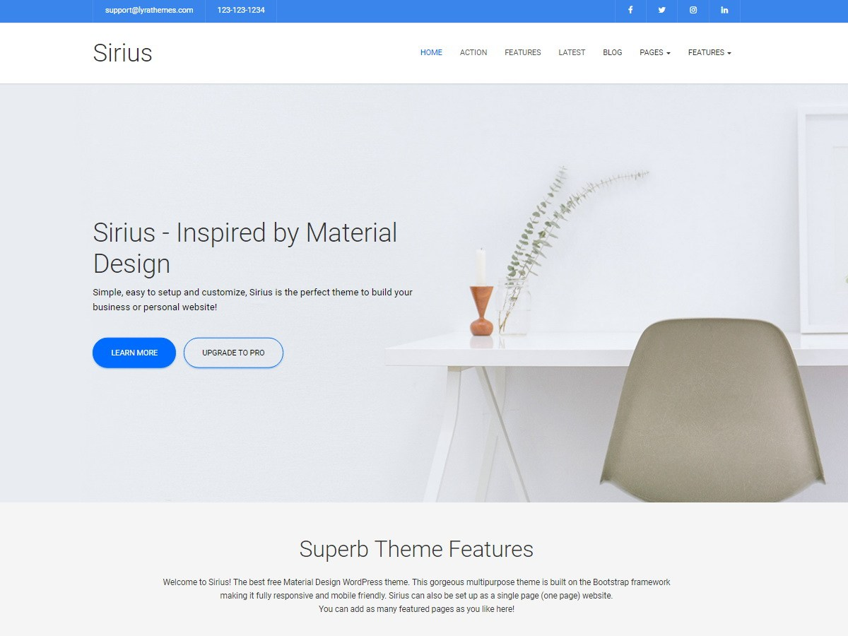 Download Sirius Lite 1.1 – Free WordPress Theme