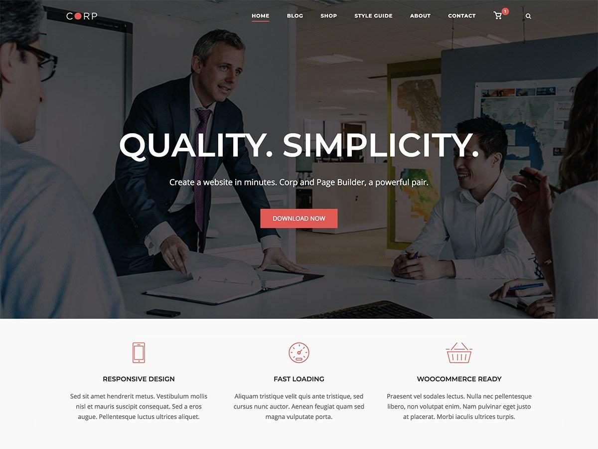 Download SiteOrigin Corp 1.8 – Free WordPress Theme
