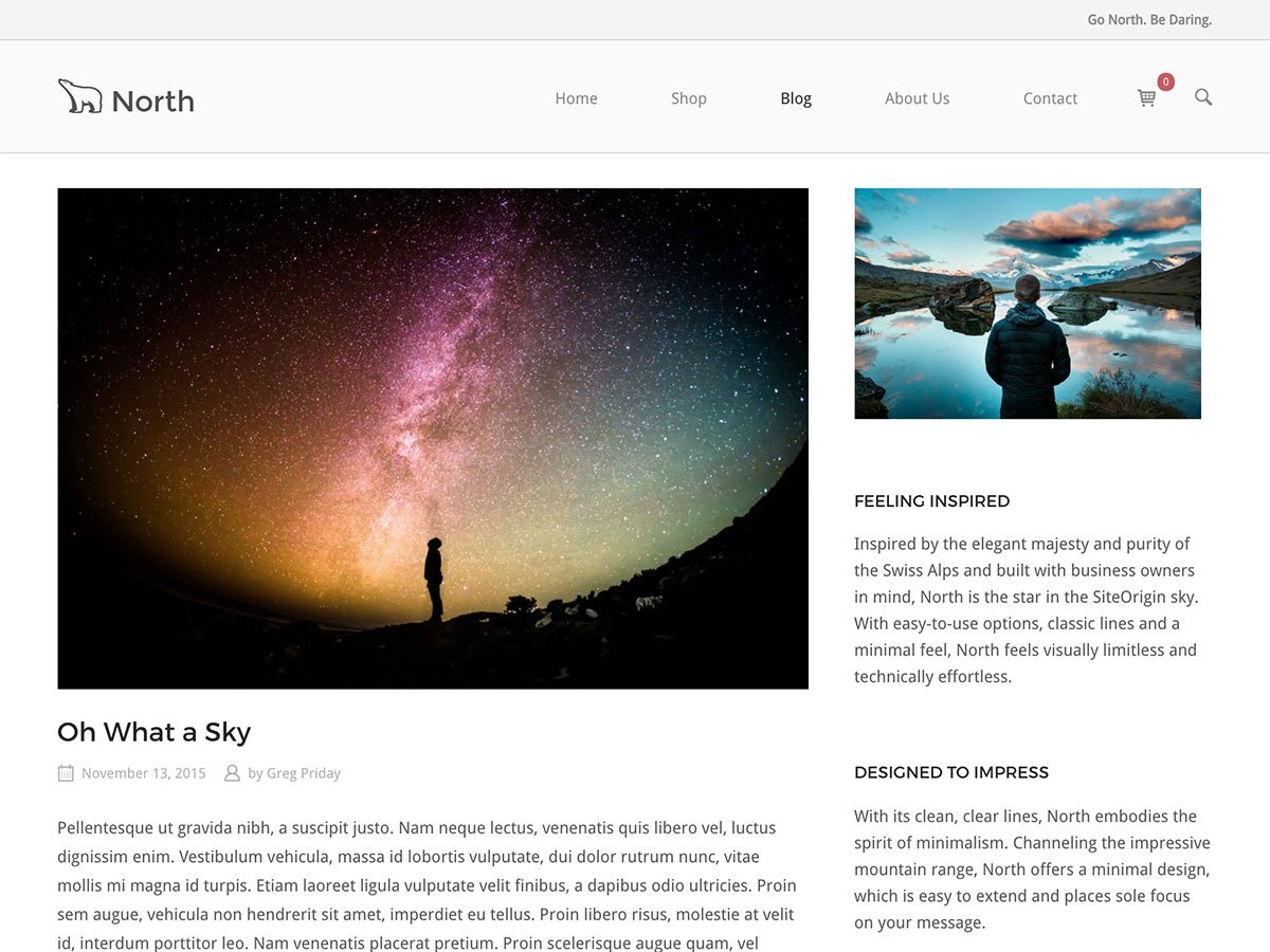 Download SiteOrigin North 1.5.2 – Free WordPress Theme
