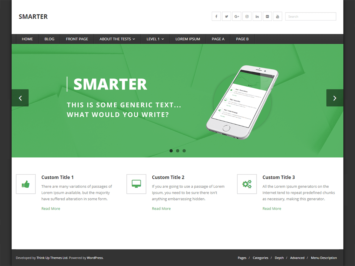Download Smarter 1.1.5 – Free WordPress Theme