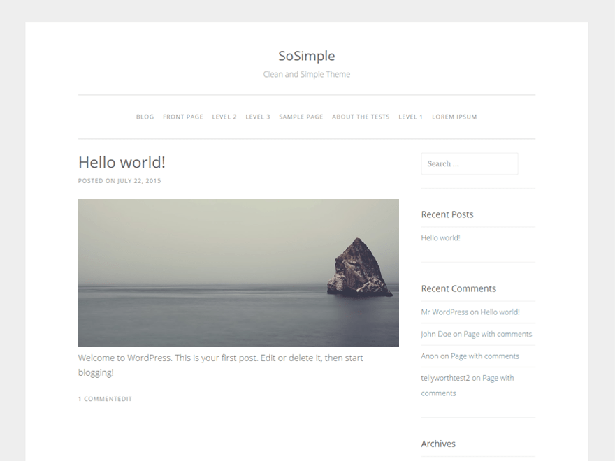 Download SoSimple 1.2.7 – Free WordPress Theme