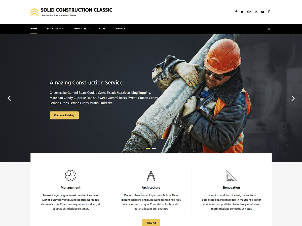 Download Solid Construction Classic 1.0.1 – Free WordPress Theme