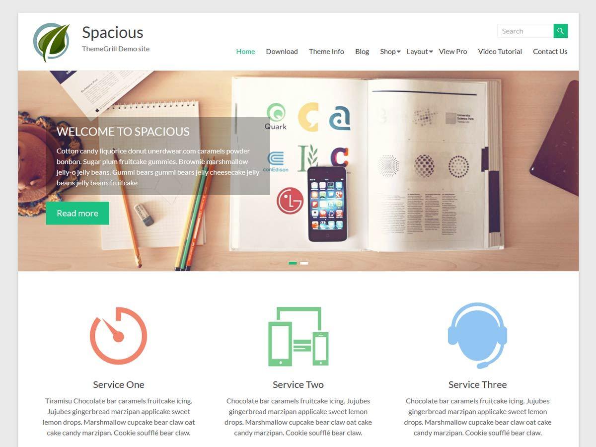 Download Spacious 1.5.5 – Free WordPress Theme
