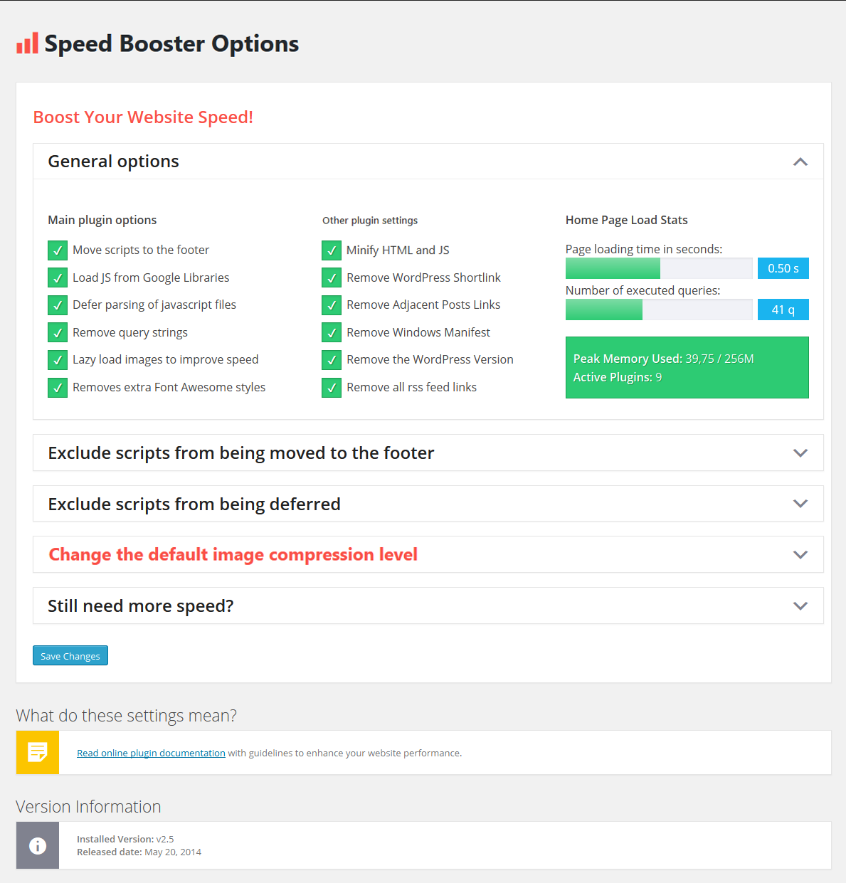 Download Speed Booster Pack 3.7.1 – Free WordPress Plugin