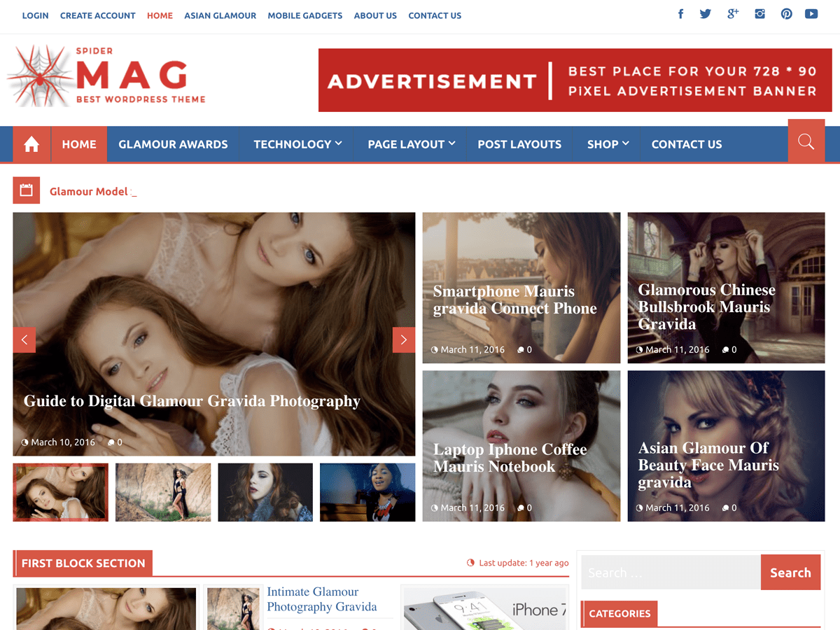 Download SpiderMag 1.1.2 – Free WordPress Theme