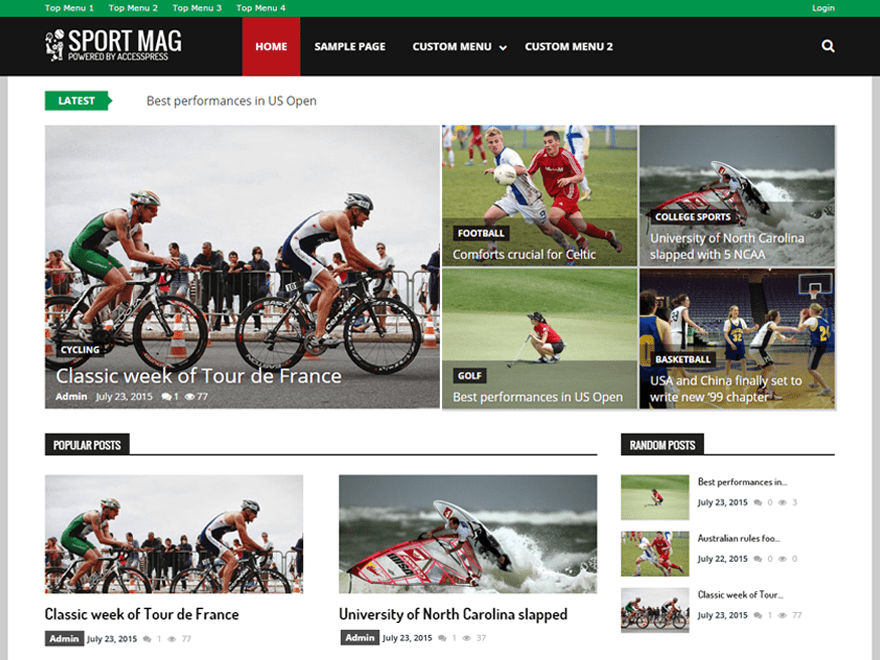 Download SportsMag 1.2.0 – Free WordPress Theme