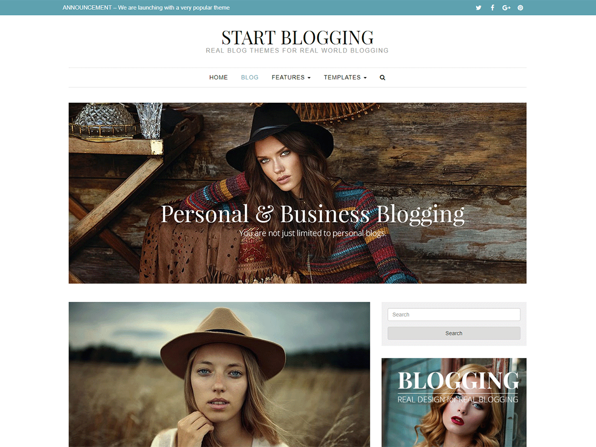 Download Start Blogging 1.2.9 – Free WordPress Theme