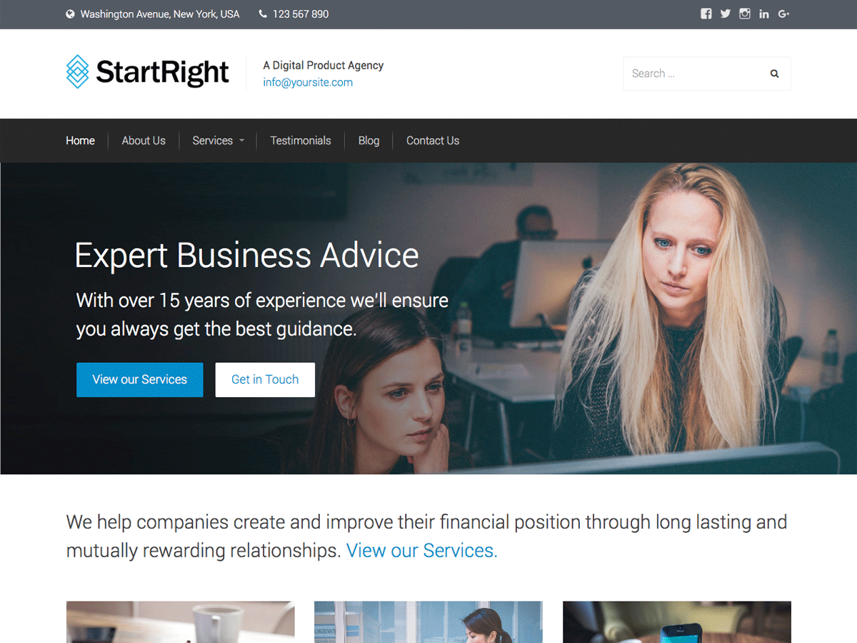 Download StartRight 1.2.1 – Free WordPress Theme