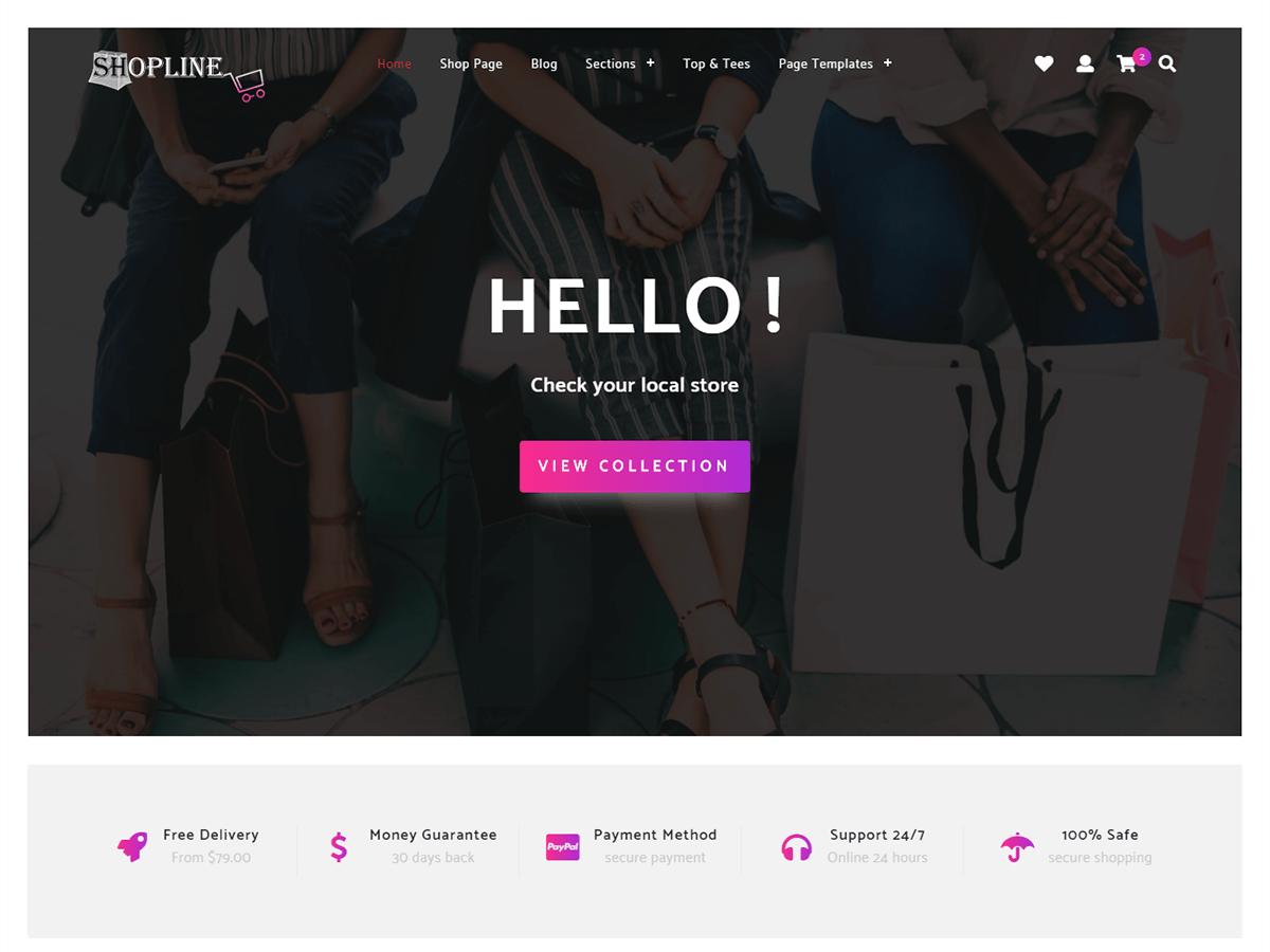 Download Store Shopline 1.0.3 – Free WordPress Theme