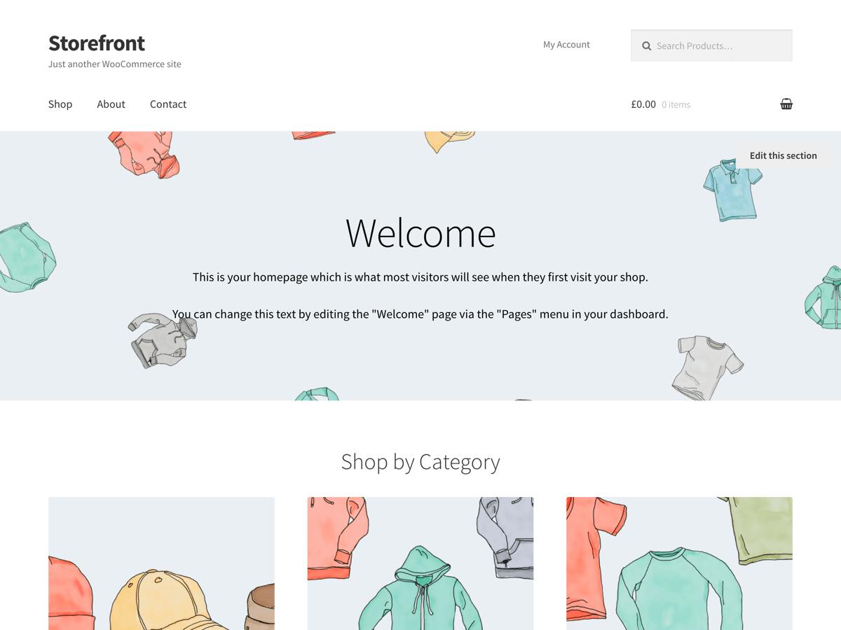 Download Storefront 2.3.3 – Free WordPress Theme