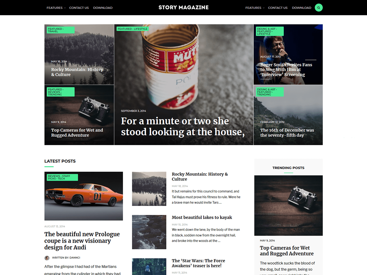 Download Story Magazine 1.0.6 – Free WordPress Theme