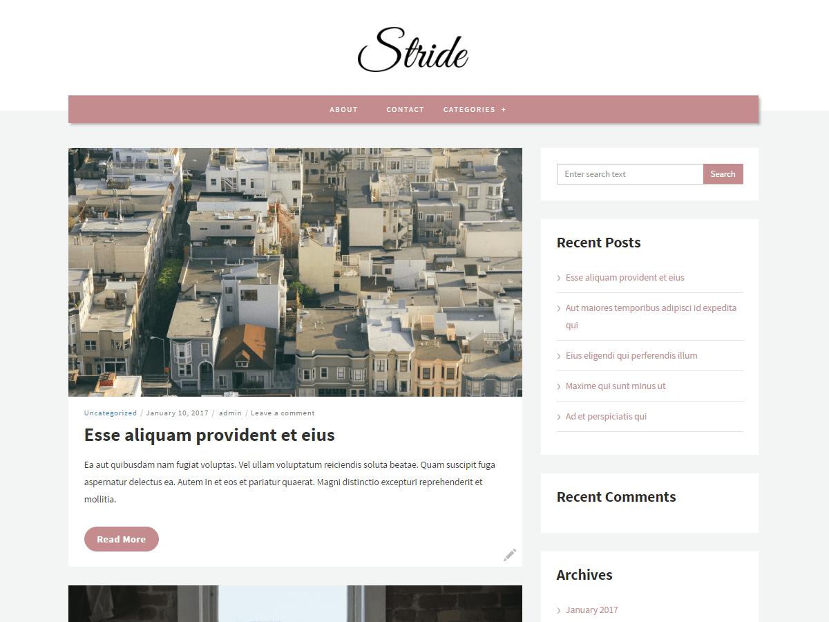 Download Stride lite 1.3.1 – Free WordPress Theme