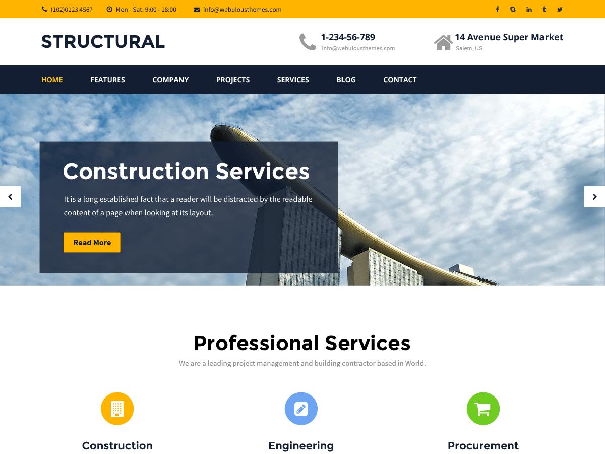 Download Structural 1.1.4 – Free WordPress Theme
