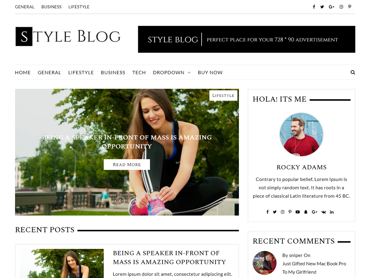 Download StyleBlog 1.0.8 – Free WordPress Theme