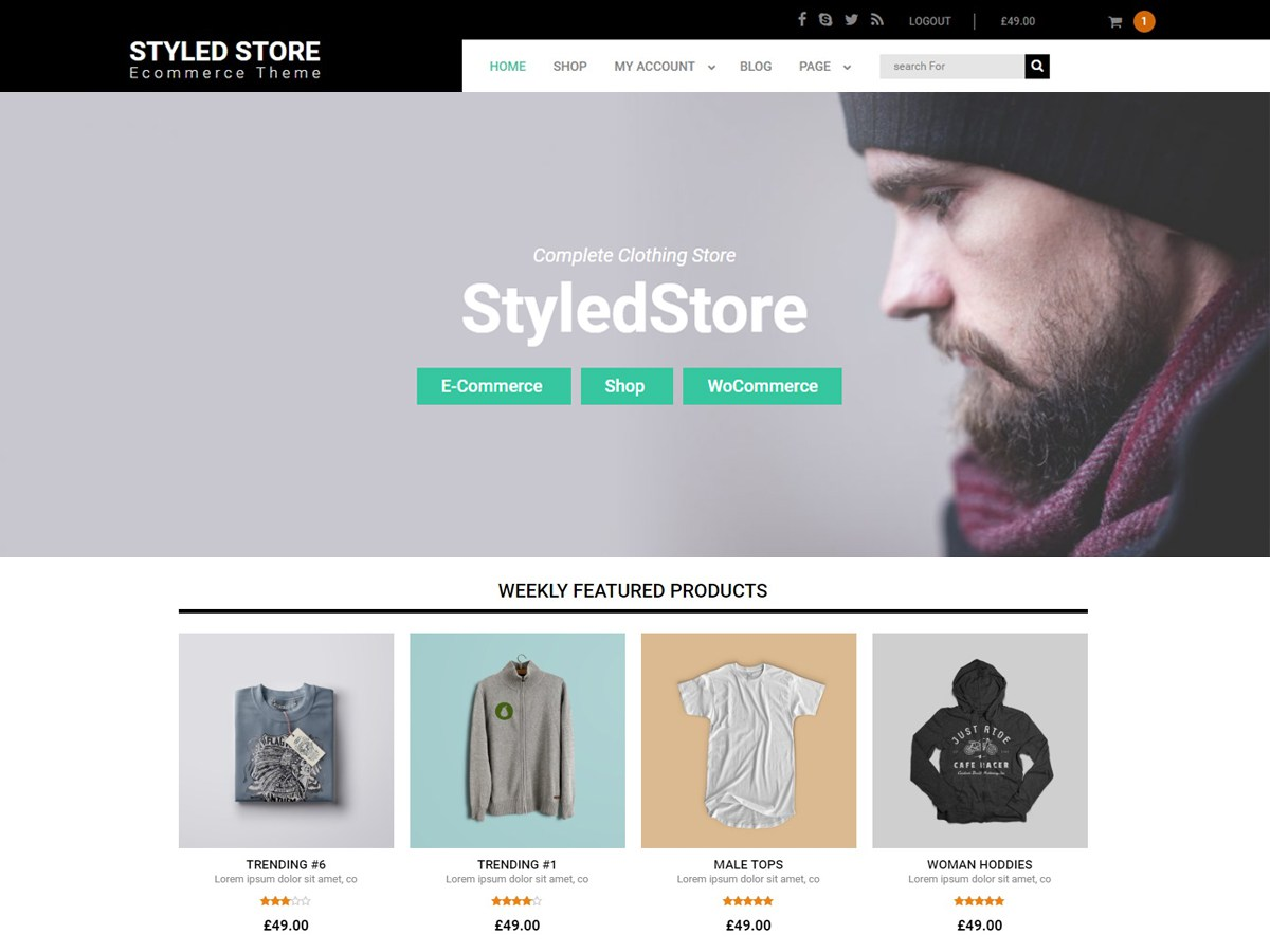 Download Styled Store 1.8.0 – Free WordPress Theme
