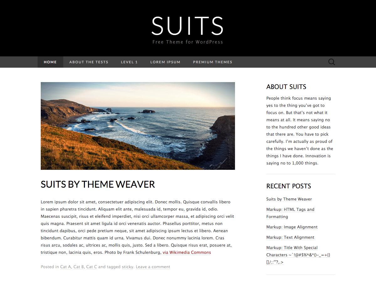 Download Suits 1.5 – Free WordPress Theme