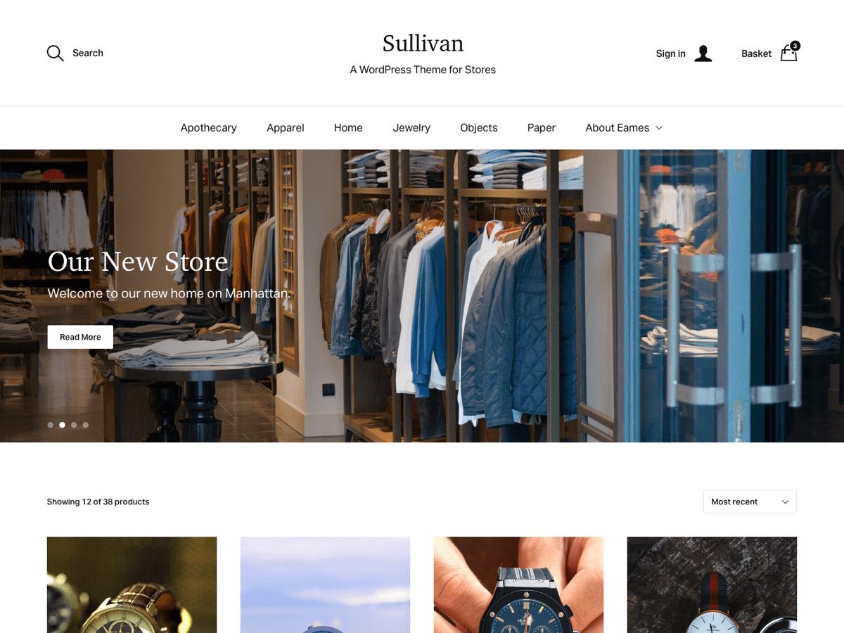 Download Sullivan 1.10 – Free WordPress Theme