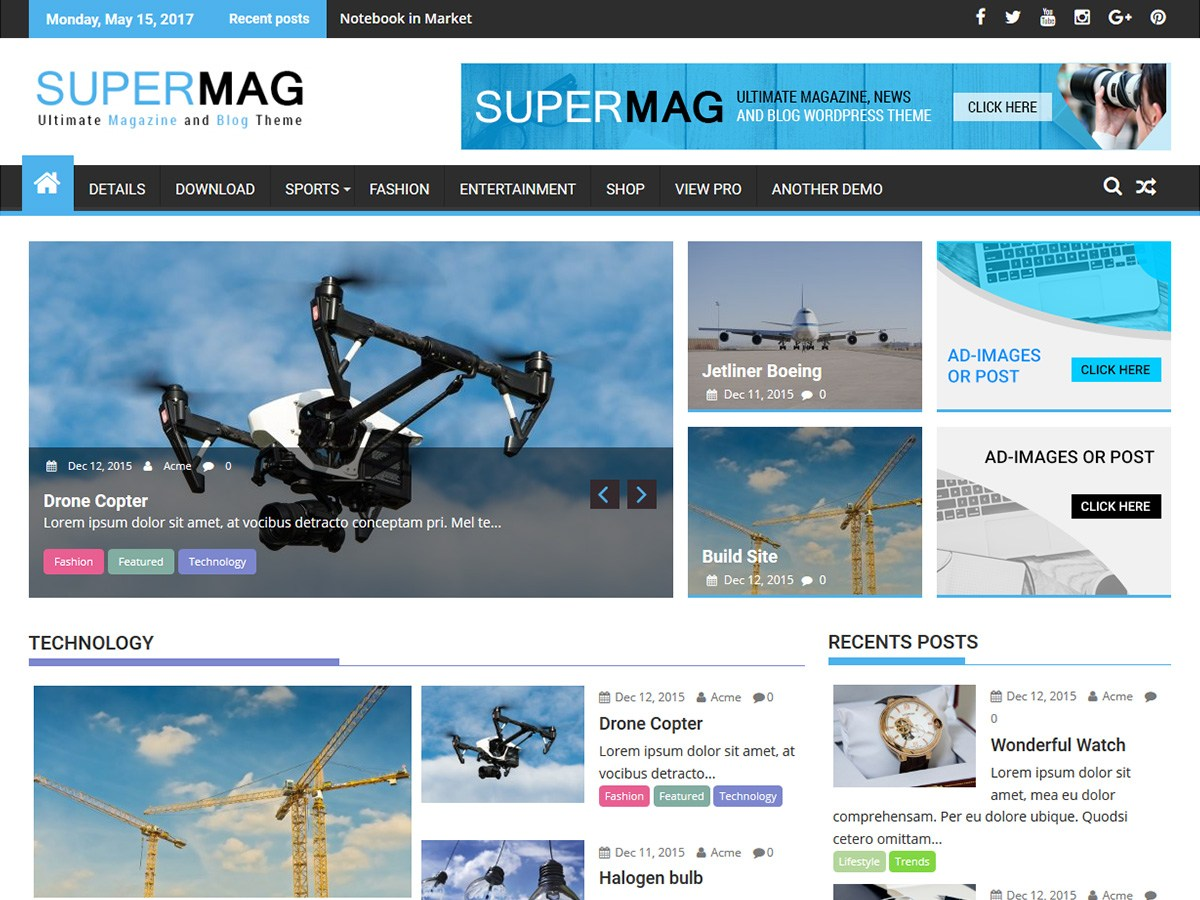 Download SuperMag 1.5.4 – Free WordPress Theme
