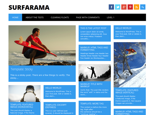 Download Surfarama 2.0 – Free WordPress Theme